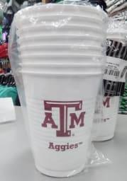 Texas A&M Aggies 16oz 8 pack Disposable Cups