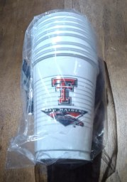 Texas Tech Red Raiders 16oz 8 pack Disposable Cups