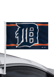 Detroit Tigers 11x14 Blue Car Flag - Navy Blue