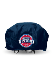 Detroit Pistons 68in Black BBQ Grill Cover
