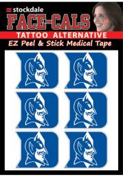Duke Blue Devils 6 Pack Tattoo