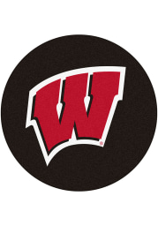 Wisconsin Badgers 27 Hockey Puck Interior Rug