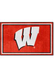 Wisconsin Badgers 4x6 Plush Interior Rug