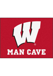 Wisconsin Badgers 34x42 Man Cave All Star Interior Rug