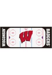 Wisconsin Badgers 30x72 Hockey Rink Runner Interior Rug