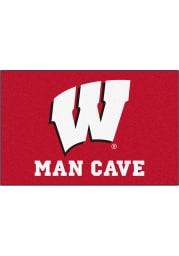 Wisconsin Badgers 19x30 Man Cave Starter Interior Rug