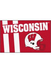 Wisconsin Badgers 19x30 Uniform Starter Interior Rug