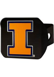 Illinois Fighting Illini Color Logo Car Accessory Hitch Cover