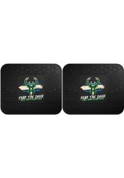 Sports Licensing Solutions Milwaukee Bucks 2021 NBA Finals Champions 2 Piece Utility Car Mat - Black