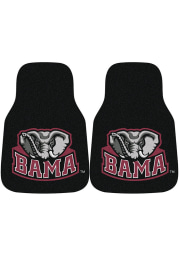 Sports Licensing Solutions Alabama Crimson Tide 2-Piece Carpet Car Mat - Black