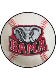 Alabama Crimson Tide 27` Baseball Interior Rug