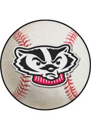 Wisconsin Badgers 27` Baseball Interior Rug