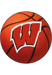 Wisconsin Badgers 27` Basketball Interior Rug