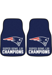 Sports Licensing Solutions New England Patriots Super Bowl LIII Champs Car Mat - Navy Blue