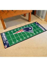 New England Patriots Super Bowl LIII 30x72 Field Runner Interior Rug