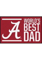 Alabama Crimson Tide Worlds Best Dad 19x30 Starter Interior Rug