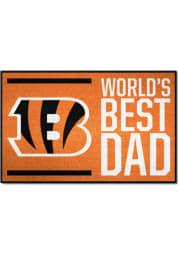 Cincinnati Bengals Worlds Best Dad 19x30 Starter Interior Rug