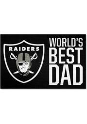 Las Vegas Raiders Worlds Best Dad 19x30 Starter Interior Rug