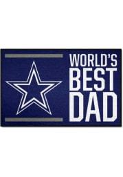 Dallas Cowboys Worlds Best Dad 19x30 Starter Interior Rug