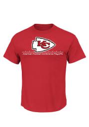 Majestic Kansas City Chiefs Red Season Contender VI Short Sleeve T Shirt