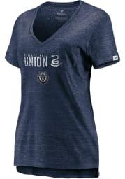 Philadelphia Union Womens Navy Blue Thats The Stuff Short Sleeve T-Shirt