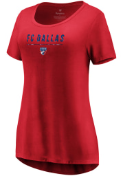 FC Dallas Womens Red Over Everything Short Sleeve T-Shirt