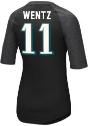 Carson Wentz Philadelphia Eagles Womens Black Fair Catch V Player T-Shirt