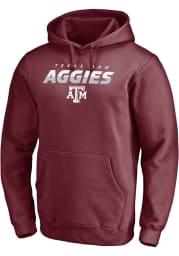 Texas A&M Aggies Mens Maroon Elevate Play Long Sleeve Hoodie