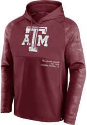 Texas A&M Aggies Mens Maroon Camo Fleece Defender Hood