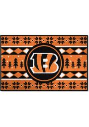 Cincinnati Bengals 19x30 Holiday Sweater Starter Interior Rug