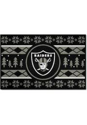 Las Vegas Raiders 19x30 Holiday Sweater Starter Interior Rug