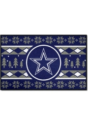 Dallas Cowboys 19x30 Holiday Sweater Starter Interior Rug