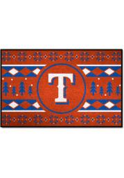 Texas Rangers 19x30 Holiday Sweater Starter Interior Rug