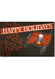 Tampa Bay Buccaneers 19x30 Holiday Starter Interior Rug