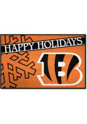 Cincinnati Bengals 19x30 Holiday Starter Interior Rug