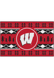 Wisconsin Badgers 19x30 Holiday Sweater Starter Interior Rug