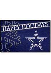 Dallas Cowboys 19x30 Holiday Starter Interior Rug