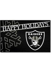 Las Vegas Raiders 19x30 Holiday Starter Interior Rug