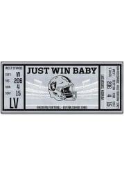 Las Vegas Raiders 30x72 Ticket Runner Interior Rug