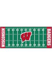 Wisconsin Badgers 30x72 Football Field Runner Interior Rug