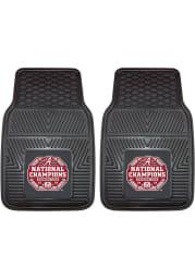 Sports Licensing Solutions Alabama Crimson Tide 2020 National Champions 2 Piece Vinyl Car Mat - Black