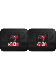 Sports Licensing Solutions Tampa Bay Buccaneers Super Bowl LV Champion 2 Piece Utility Car Mat - Black