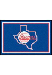 Texas Rangers 4x6 Plush Interior Rug
