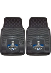 Sports Licensing Solutions Tampa Bay Lightning 2021 Stanley Cup Champions 2 Piece Vinyl Car Mat - Black