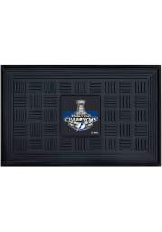 Tampa Bay Lightning 2021 Stanley Cup Champions Medallion Door Mat