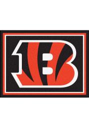 Cincinnati Bengals 8x10 Plush Interior Rug