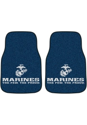 Sports Licensing Solutions Marine Corps 2-Piece Carpet Car Mat - Black