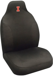 Sports Licensing Solutions Illinois Fighting Illini Team Logo Car Seat Cover - Black