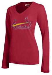 Springfield Cardinals Womens Red Mia LS Tee