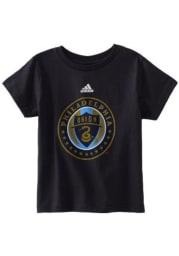 Philadelphia Union Toddler Navy Blue Primary Logo Short Sleeve T-Shirt